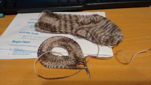 Socks knitted in  'Simple Toddler Socks' pattern by Janet Ballweber